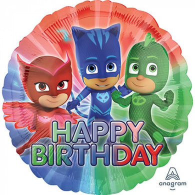 18inch Foil Balloon - PJ Masks Happy Birthday