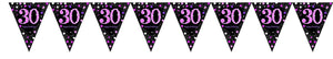 Prismatic Pink Pennant Banner 30th
