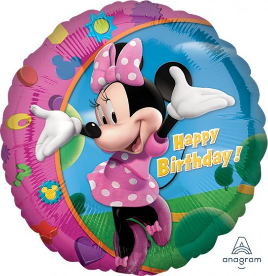 18inch Foil Balloon - Minnie Mouse Happy Birthday