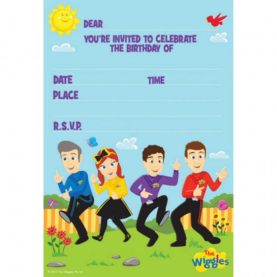 Wiggles Invitations