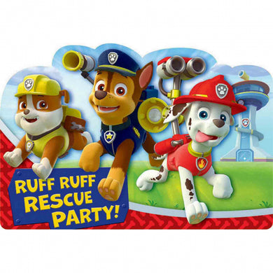 Paw Patrol Postcard Invitations
