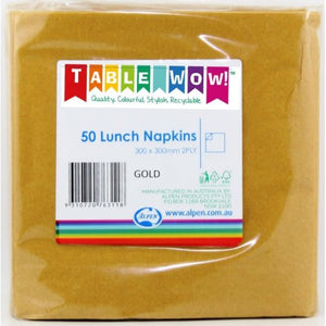 Gold Lunch Napkin 30x30cm 2ply P50