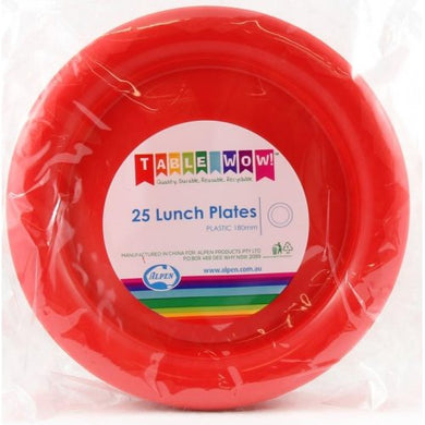 Red Lunch Plate P25