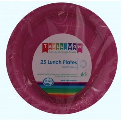 Magenta Lunch Plate P25