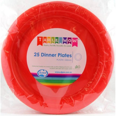 Red Dinner Plate P25