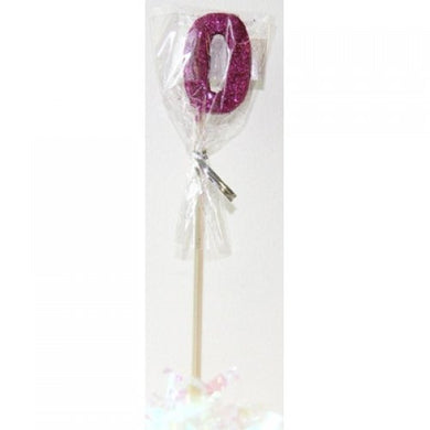 Pink Glitter Long Stick Candle #0 P1