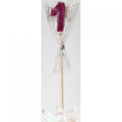 Pink Glitter Long Stick Candle #1 P1