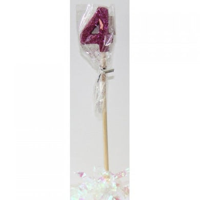 Pink Glitter Long Stick Candle #4 P1