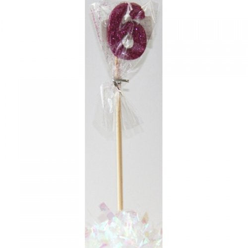 Pink Glitter Long Stick Candle #6 P1