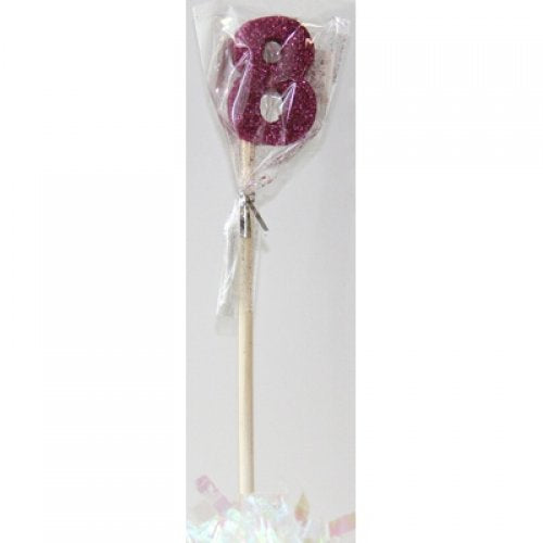 Pink Glitter Long Stick Candle #8 P1