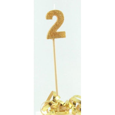 Gold Glitter Long Stick Candle #2 P1