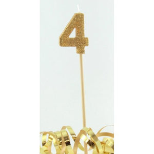 Gold Glitter Long Stick Candle #4 P1