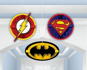 Justice League Honeycomb Decorations