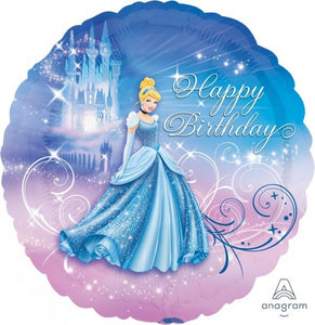 18inch Foil Balloon - Cinderella Happy Birthday