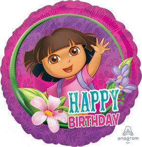 18inch Foil Balloon - Dora Happy Birthday