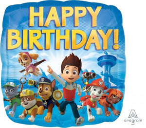 18inch Foil Balloon - Paw Patrol Happy Birthday