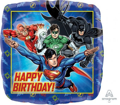 18inch Foil Balloon - Justice League Happy Birthday