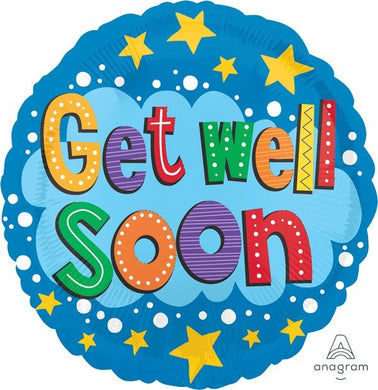 Get Well Soon 18inch Foil Balloon
