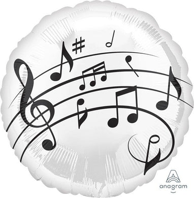 Music Notes 18inch Foil Balloon