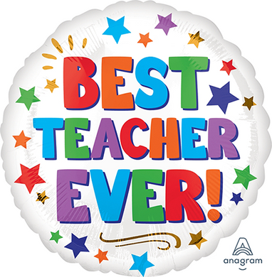 Best Teacher Ever 18inch Foil Balloon