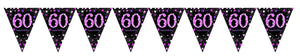 Prismatic Pink Pennant Banner 60th