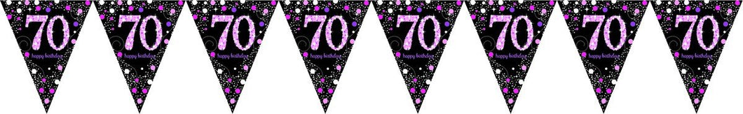 Prismatic Pink Pennant Banner 70th