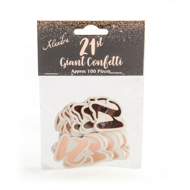 21st Birthday Rose Gold Giant Confetti