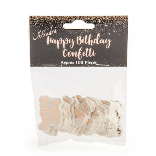 Happy Birthday Rose Gold Giant Confetti
