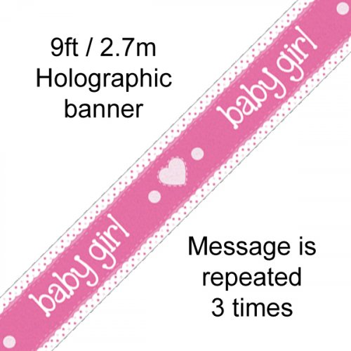 Baby Girl Banner Pink