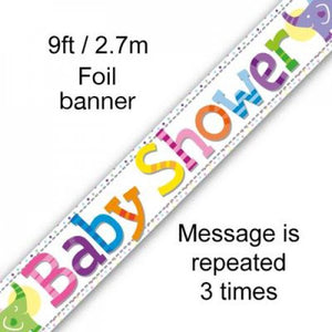 Baby Shower Banner Colourful Party Mix Perth Party Supplies