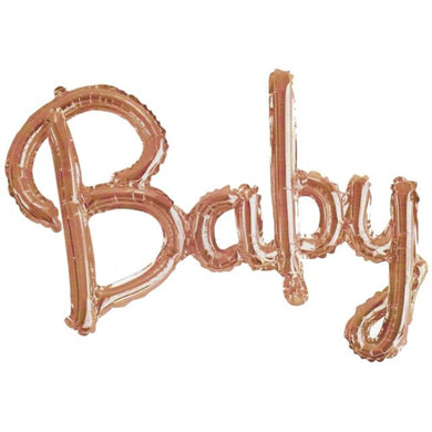 Baby Script Balloon Rose Gold