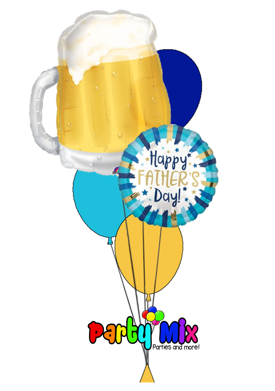 Beer Mug Father's Day Balloon Bouquet