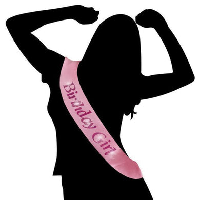 Pink Flashing Birthday Girl Sash