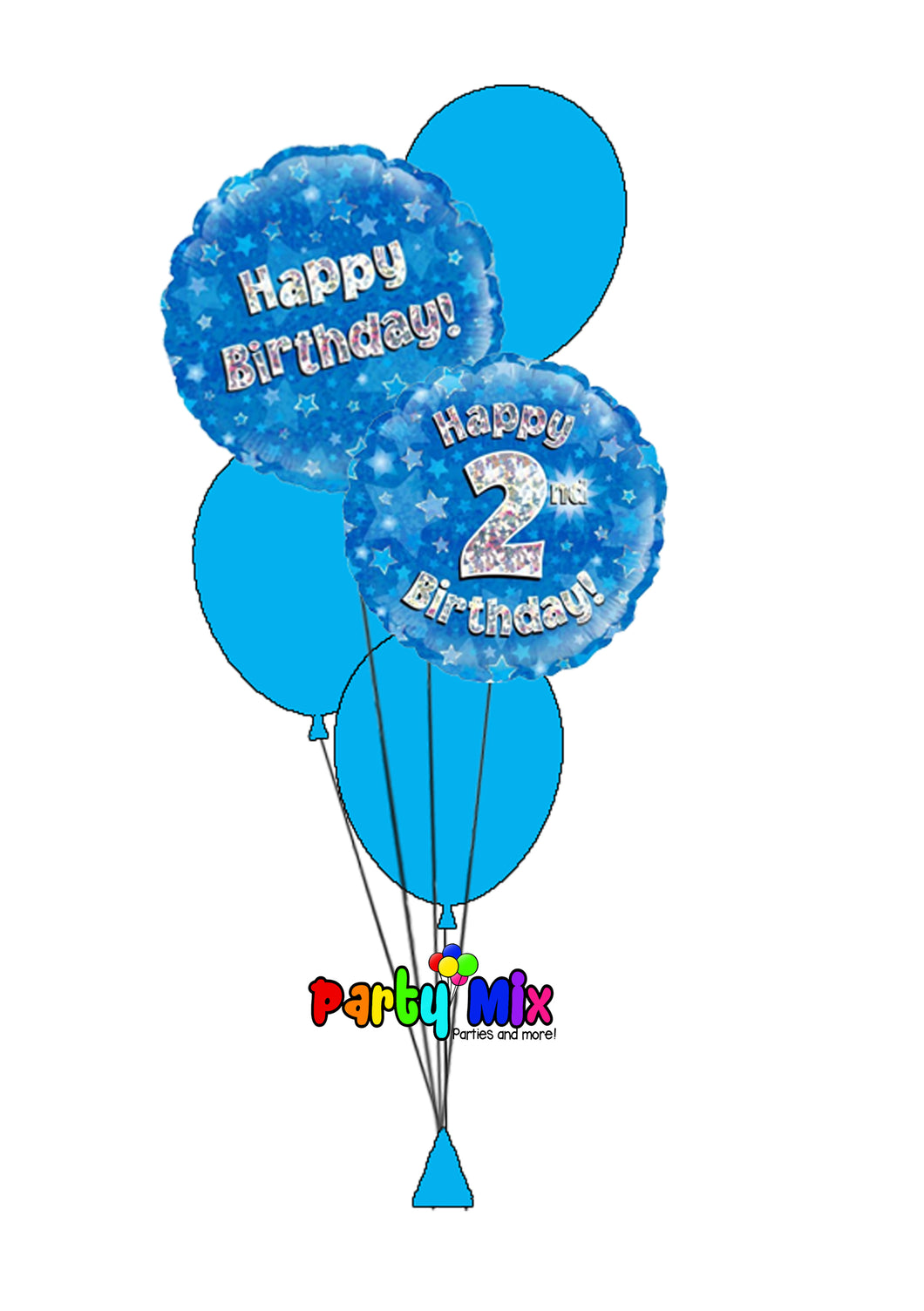 Blue Age Birthday Balloon Bouquet