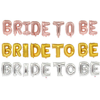 Bride To Be Air Filled Letters