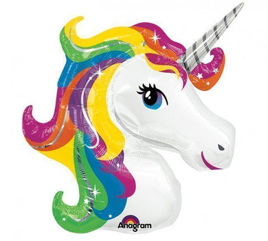 Colourful Unicorn Supershape Foil Balloon