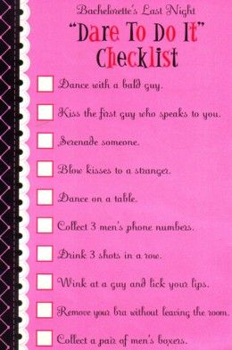 Dare To Do Bachelorette Game