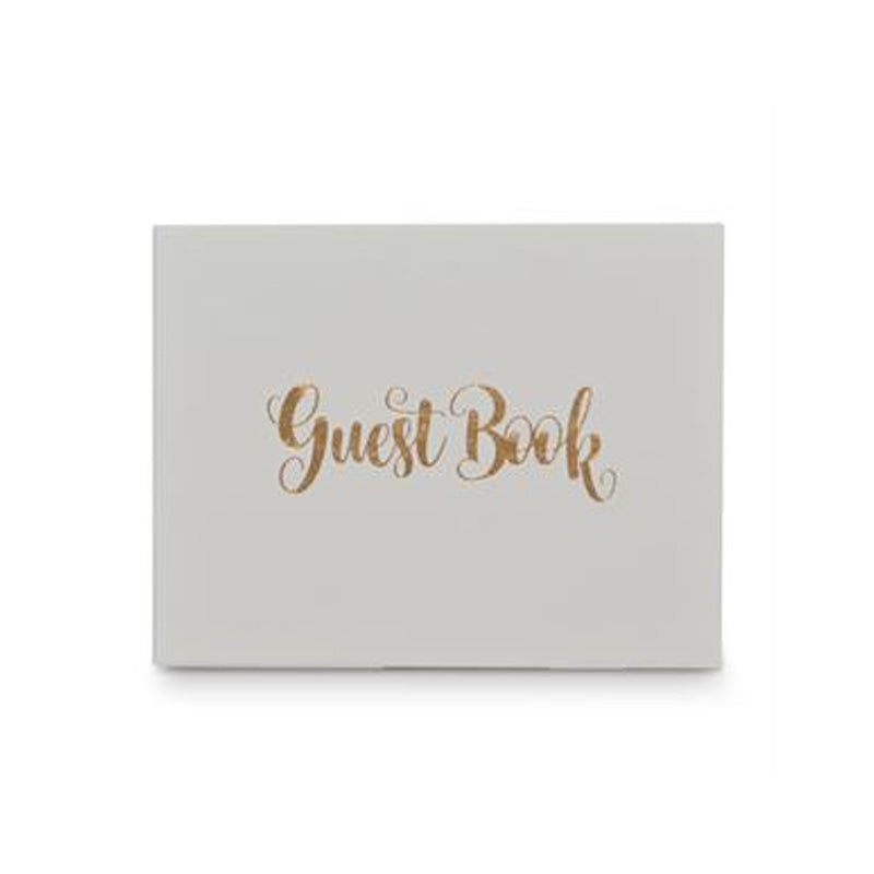 Guest Book Rose Gold/White