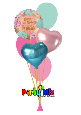 Fabulous Birthday Bouquet (Pink/Blue)