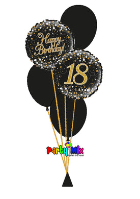 Sparkling Fizz Birthday Bouquet (Gold/Black)