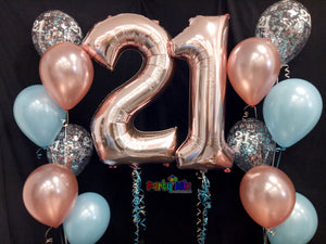 Party Starter Number Balloon Package