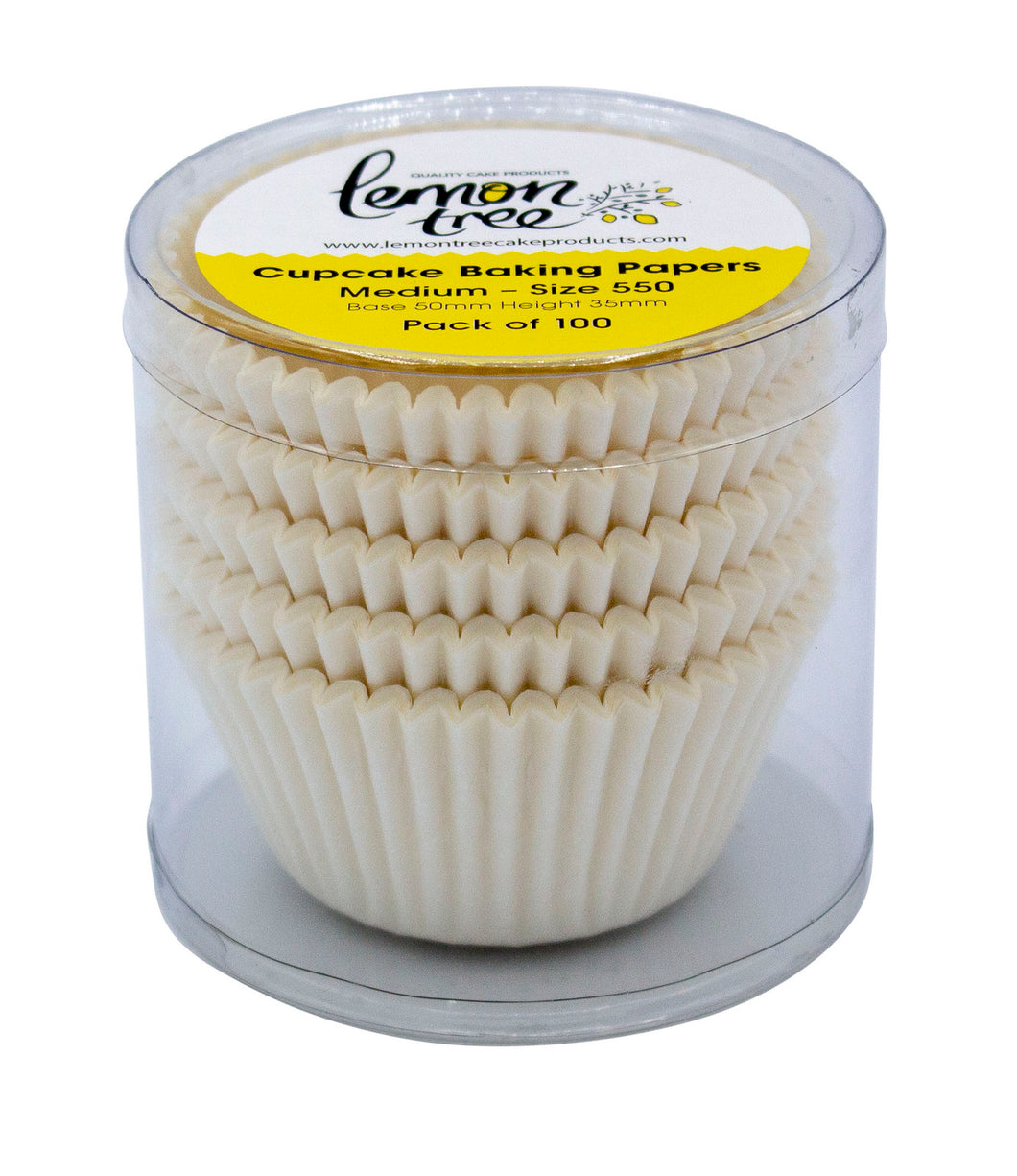 #550 Large Baking Cups 100pk - White
