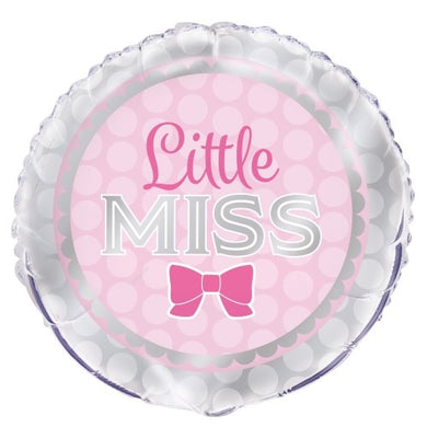 Little Miss Foil Balloon 18 inch