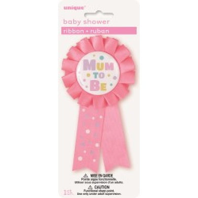 Mum To Be Ribbon Pink/Blue/Yellow