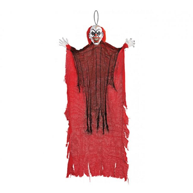 Red Hanging Clown Decoration Large