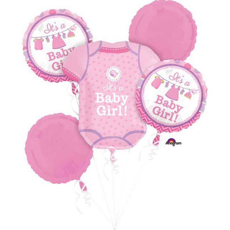 Baby Girl Foil Balloon Bouquet