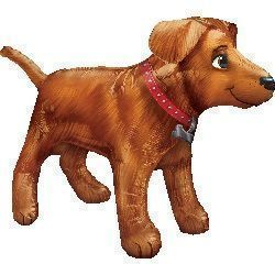 Golden Dog Supershape Foil Balloon