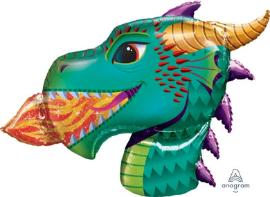 Dragon Head Supershape Foil Balloon
