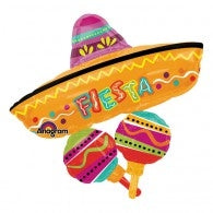 Fiesta Fun Supershape Foil Balloon