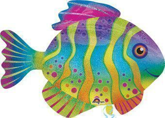 Colourful Fish Supershape Foil Balloon